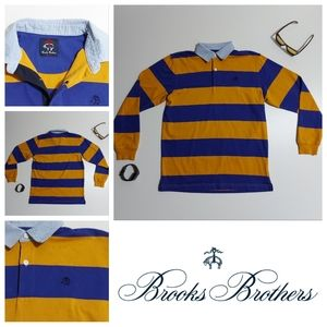 Brooks Brothers Striped Long Sleeve ¼ Button Up